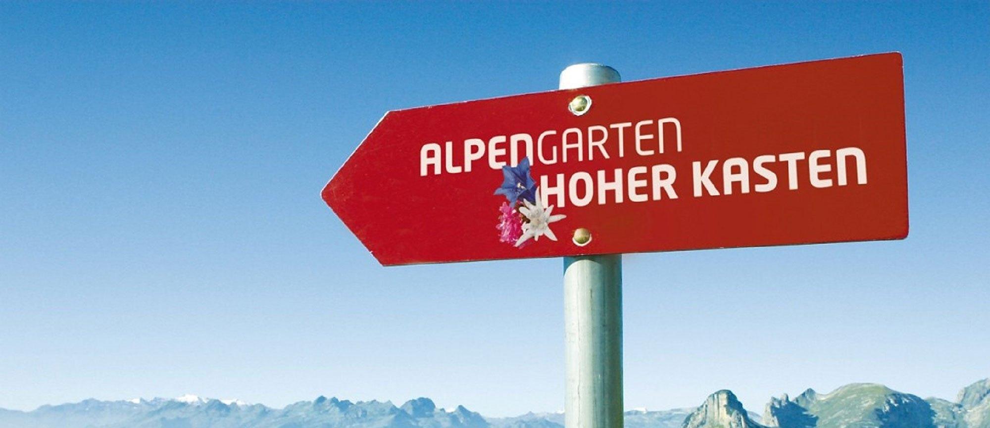 Alpengarten Hoher Kasten Appenzellerland Tourismus