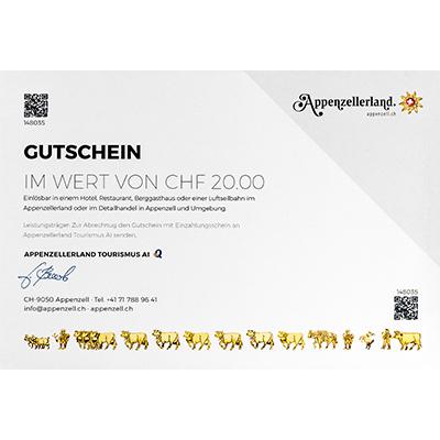 Gastro-Gutschein CHF 20.00