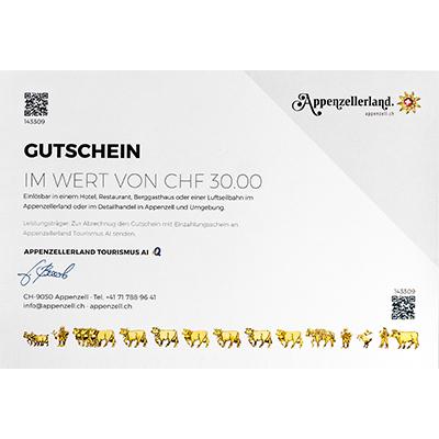 Gastro-Gutschein CHF 30.00